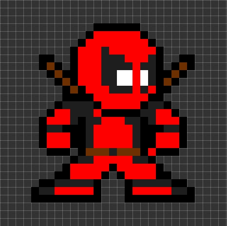 Drawn pixel art deadpool 2017 Apr 7 2015 Drawing