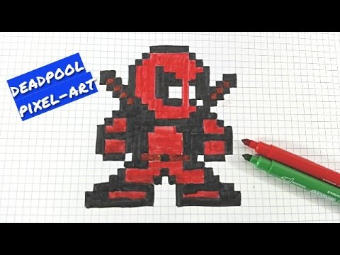 Drawn pixel art deadpool ART HOW T DRAW ART