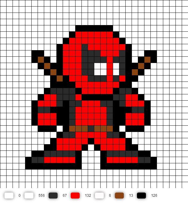 Drawn pixel art deadpool Google zoeken Etsy Xstitch logo