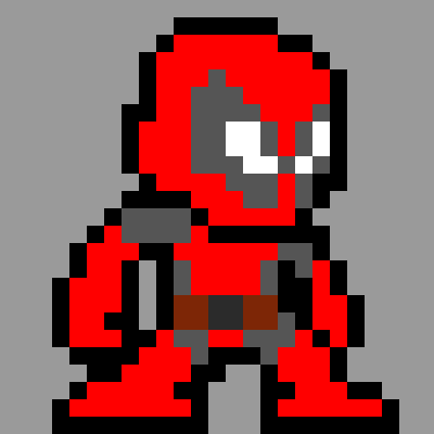 Drawn pixel art deadpool Art Deadpool Deadpool by Deadpool