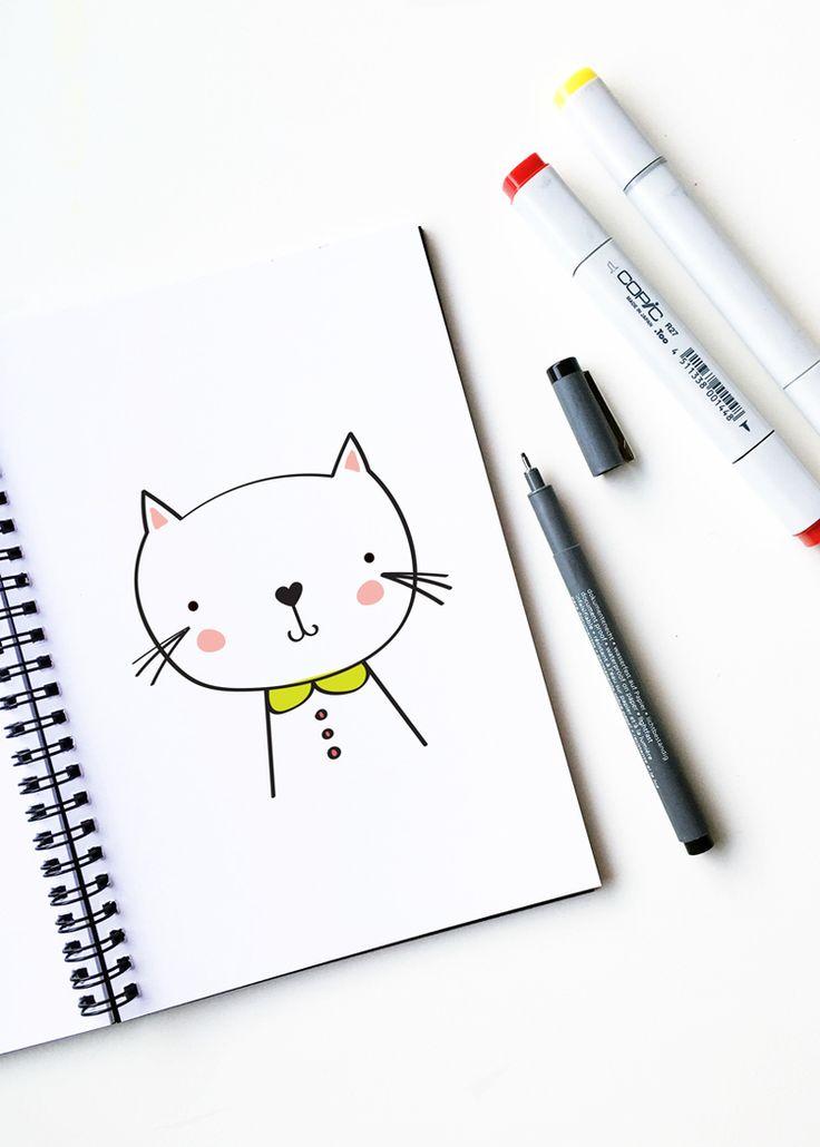 Drawn pixel art diy DIY drawing cat art a