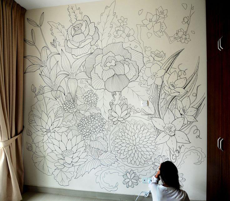 Drawn pixel art diy Ideas drawing Sharpie Pinterest Wall