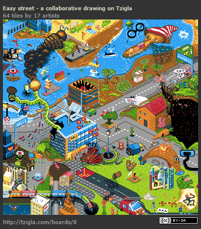 Drawn pixel art easy street Easy pixel – art Street