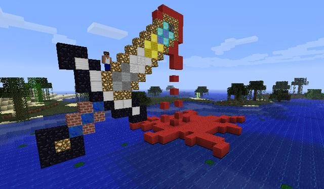 Drawn pixel art energy sword Your net PST 2/8/2012 sword