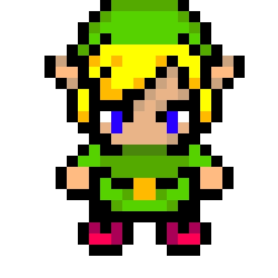 Drawn pixel art energy sword Master Link Link Of tunic