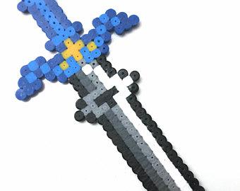 Drawn pixel art energy sword / Sword Etsy Zelda art