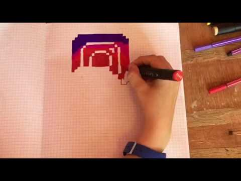 Drawn pixel art famous #9