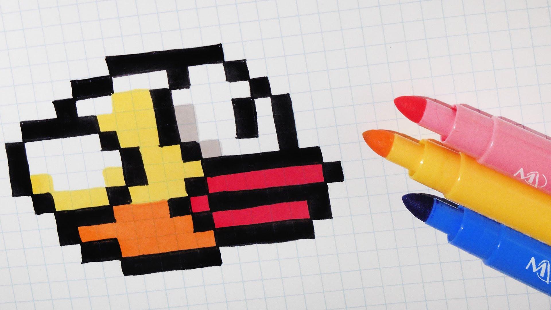 Drawn pixel art flappy bird Pixel Bird Draw Draw Bird