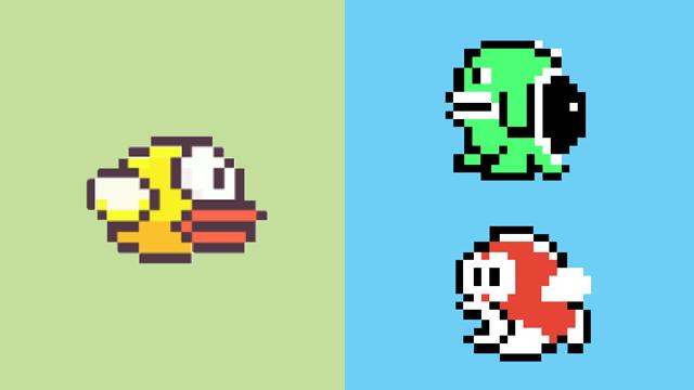 Drawn pixel art flappy bird Art Day Making 000 000