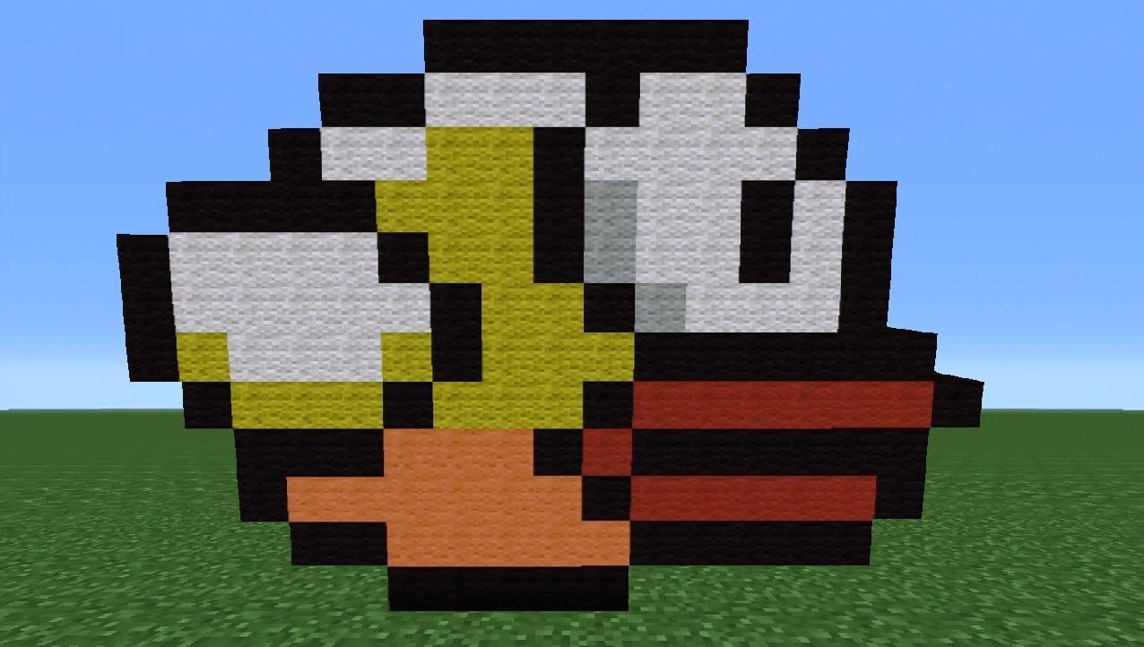 Drawn pixel art flappy bird To Minecraft YouTube Flappy How
