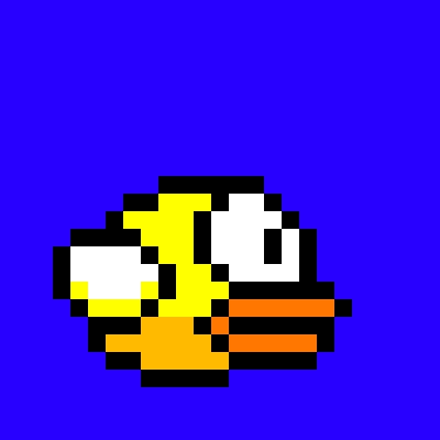 Drawn pixel art flappy bird Pixels) (100 100x100 actual art