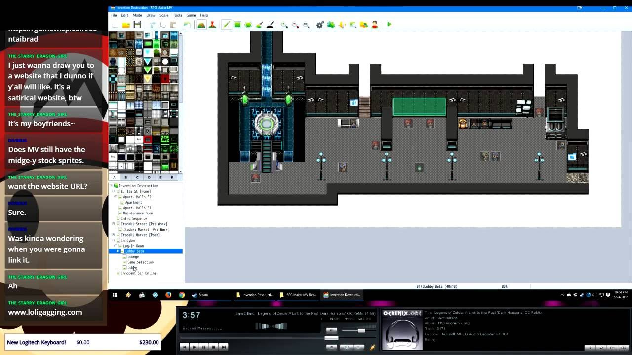 Drawn pixel art game developer W/ #gamedev MV Destruction Game