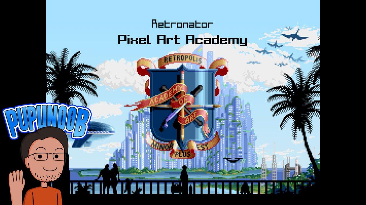 Drawn pixel art game developer Art playing draw by Interview