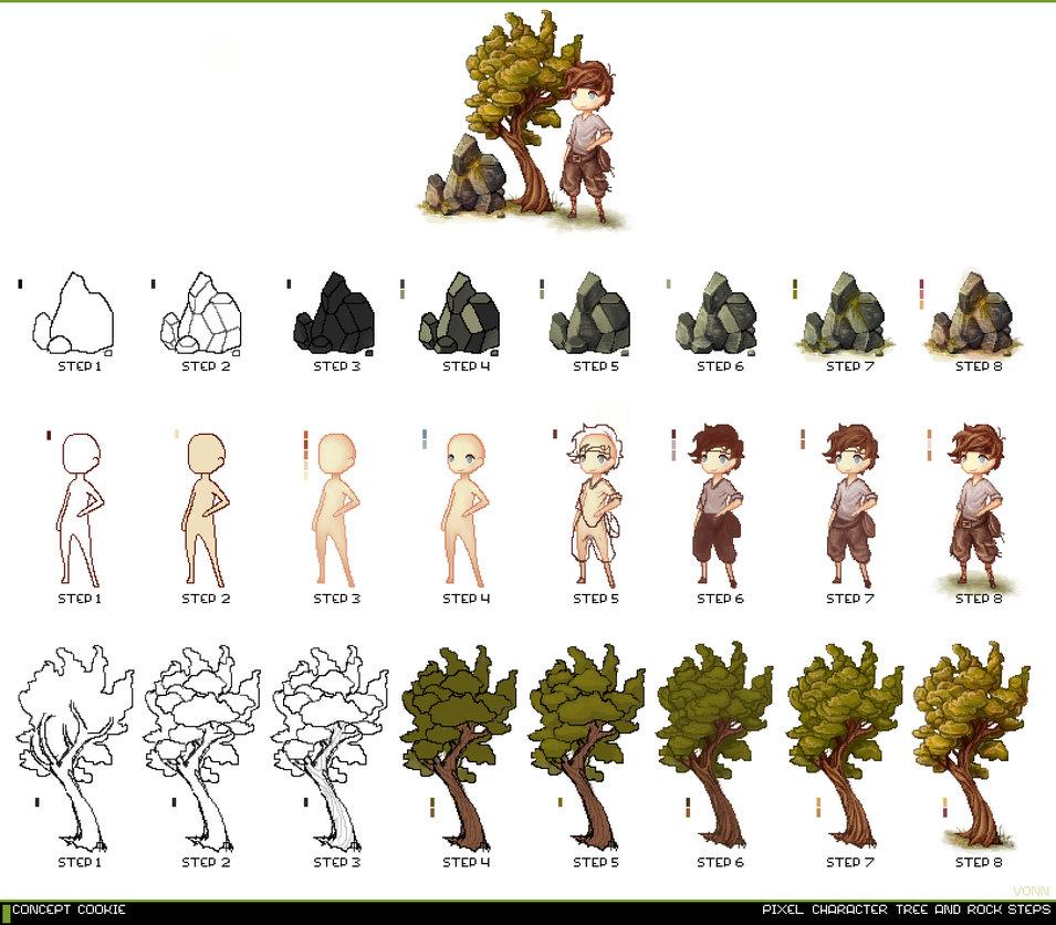 Drawn pixel art game developer DeviantArt CGCookie CGCookie Pixel Tutorial