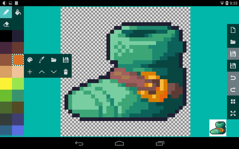 Drawn pixel art game maker Pixel PRO on PRO Play