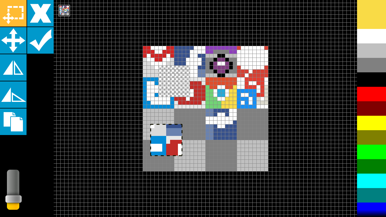 Drawn pixel art game maker Screenshot Sprite Android Play Touch
