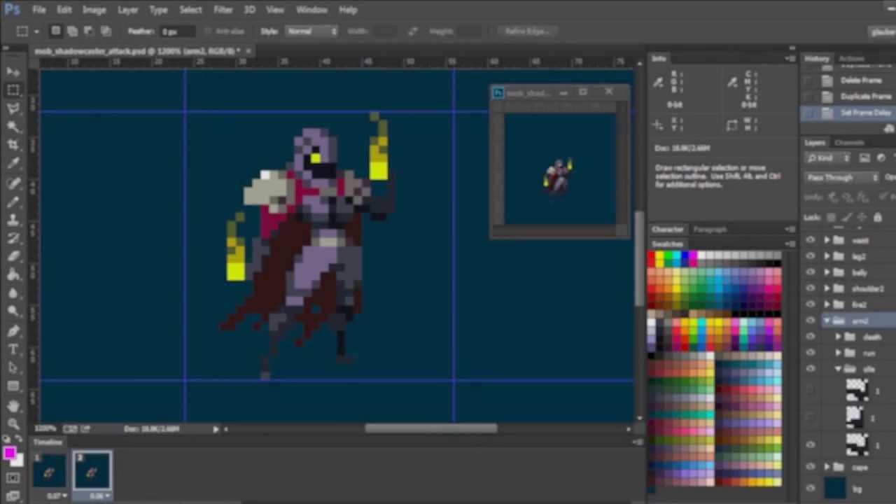 Drawn pixel art game maker Character Pixel demo  animation