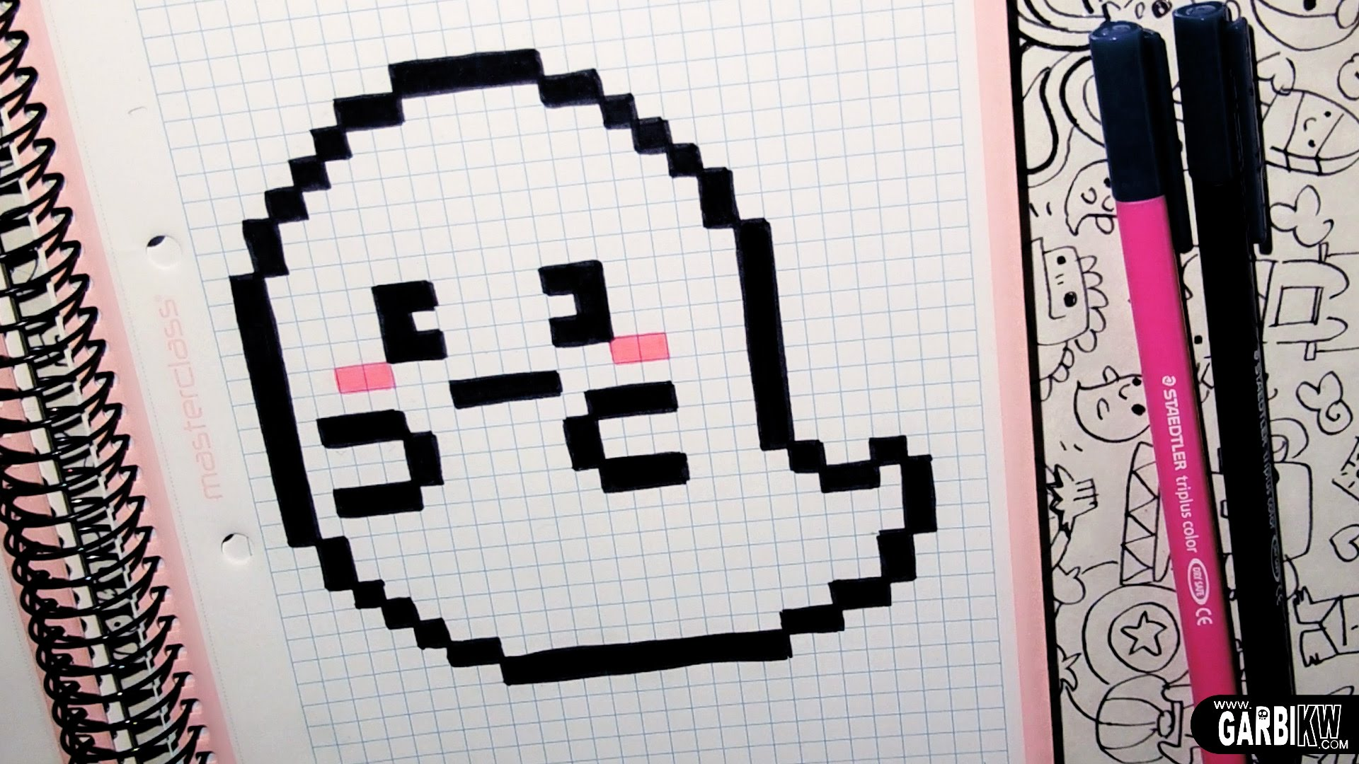 Drawn pixel art garbi kw Ghost Art YouTube KW Kawaii