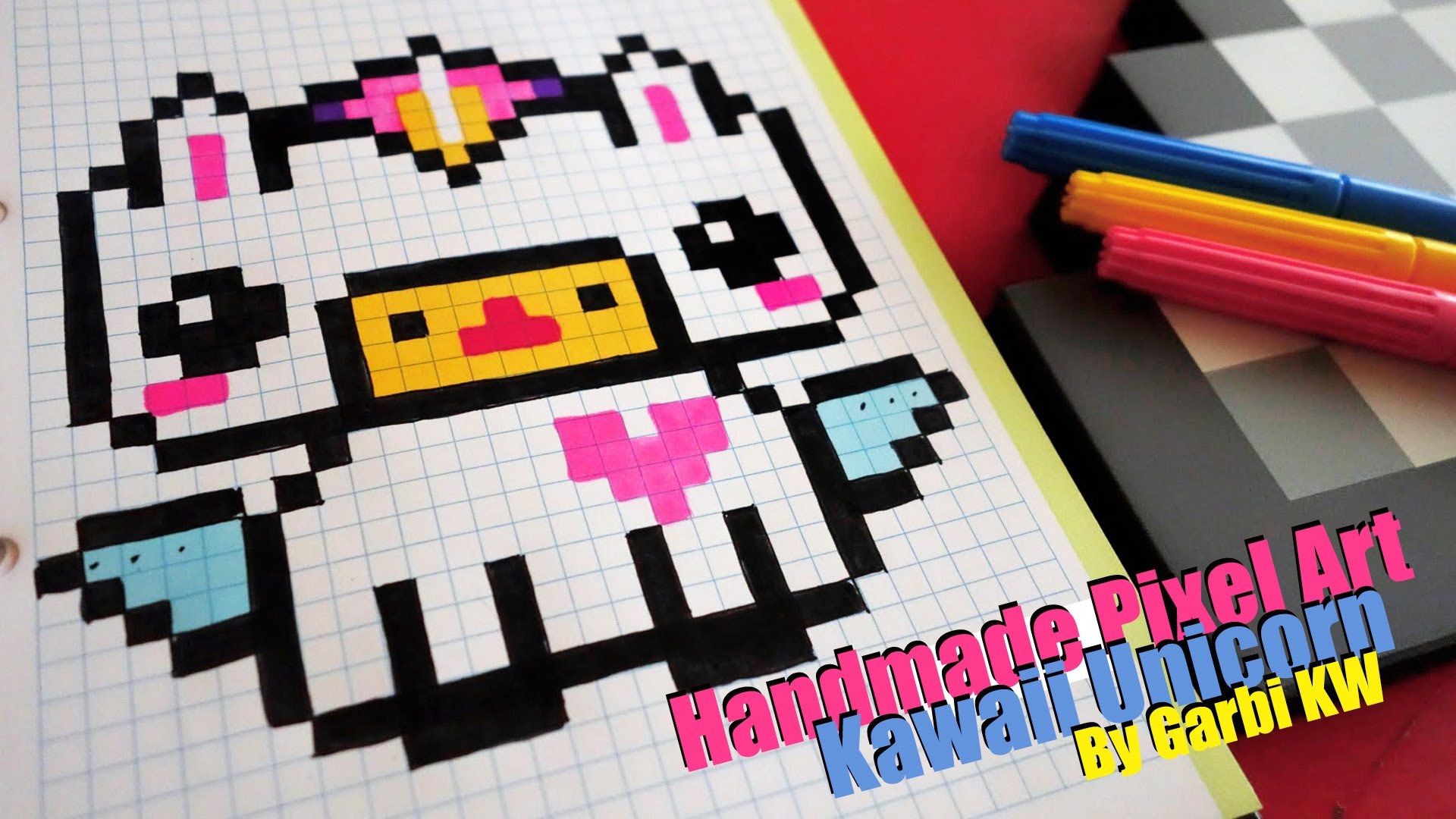 Drawn pixel art garbi kw YouTube Pixel by Kawaii KW