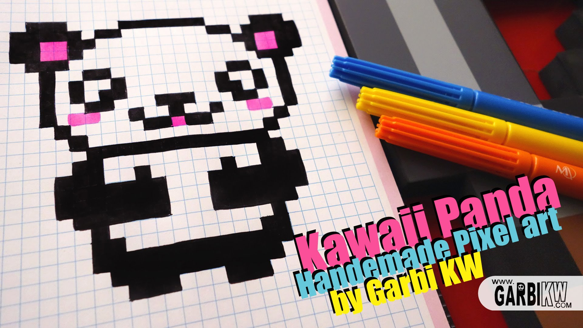 Drawn pixel art garbi kw YouTube Panda Art Garbi by
