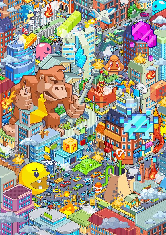 Drawn pixel art geek More on Art Pixel Pinterest