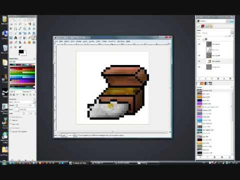 Drawn pixel art gimp Pixelart pixelart GIMP in chest