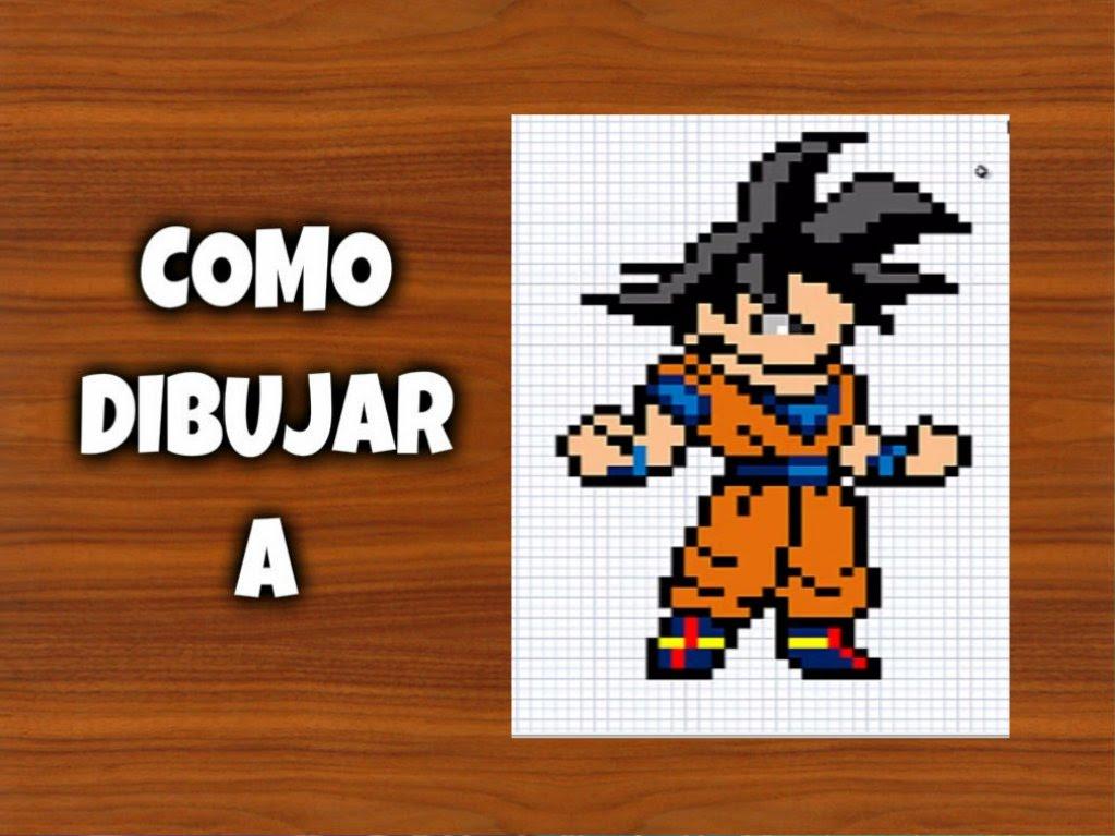 Drawn pixel art goku DIBUJAR Minecraft A Para Art