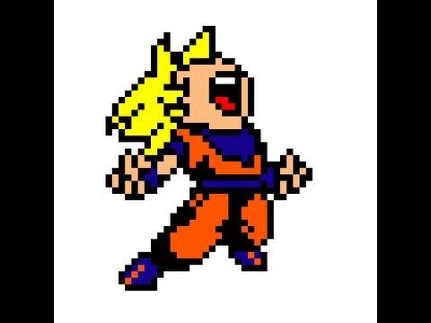 Drawn pixel art goku Saiyan Art Pixel Pixel Goku