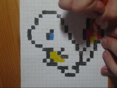 Drawn pixel art graph paper Drawing Pixel Charmander shorts Speed