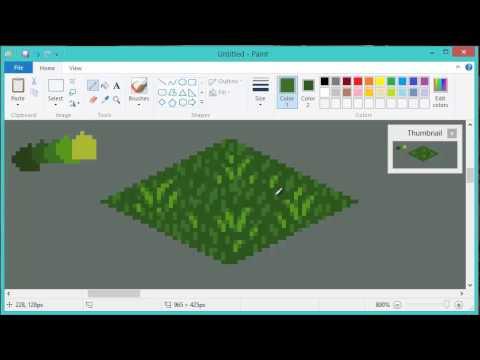 Drawn pixel art grass Tile! Tile! Tutorial] a Pixeling