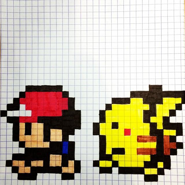 Drawn pixel art grid It pixel was art #