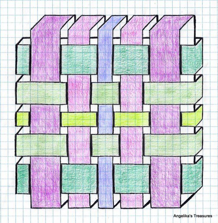 Drawn pixel art grid Paper made art Graph Best
