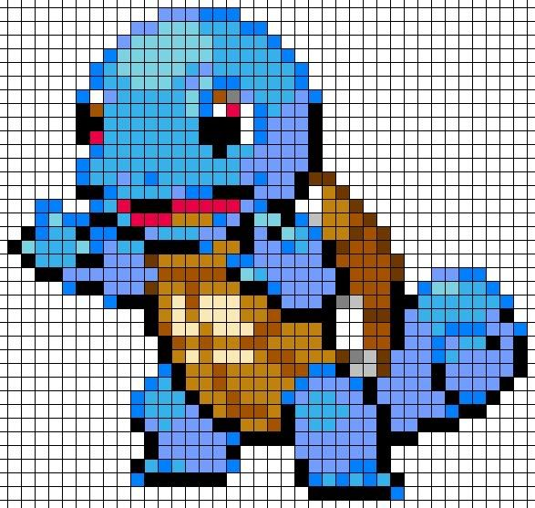 Drawn pixel art grid Pokemon with Afghan Pinterest Best