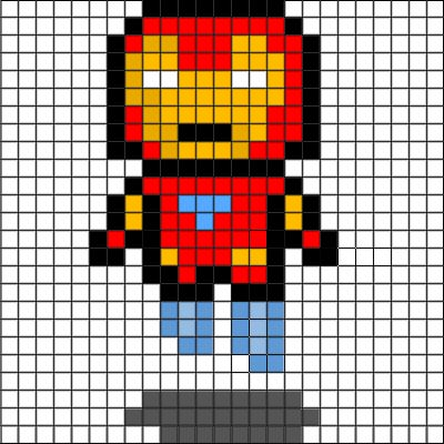 Drawn pixel art grid Pixel iron art pixel 25+