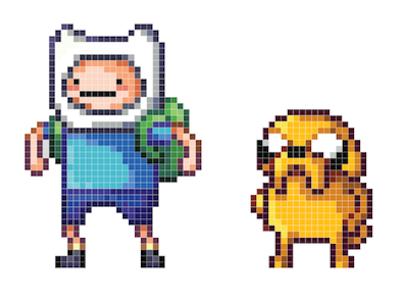 Drawn pixel art grid adventure time Adventure Adventure Recreation Pixel time