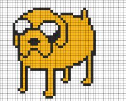 Drawn pixel art grid adventure time Time pattern adventure Time ideas