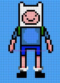 Drawn pixel art grid adventure time Ball (from Dragon Art Crafts