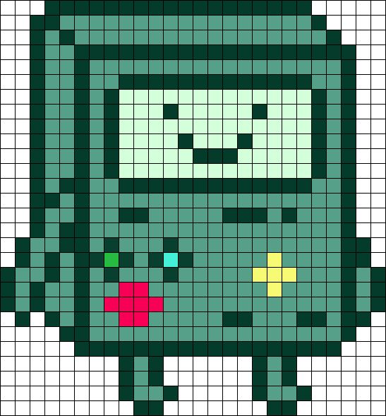 Drawn pixel art grid adventure time Adventure pattern about Time time