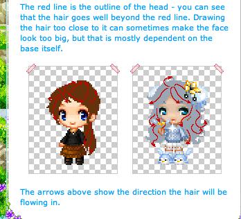 Drawn pixel art hair Pixel Tutorials Epic Tutorial Lotusware's