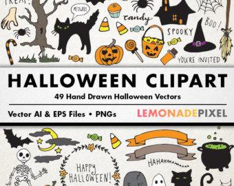 Drawn pixel art halloween Holiday drawn halloween clipart hand