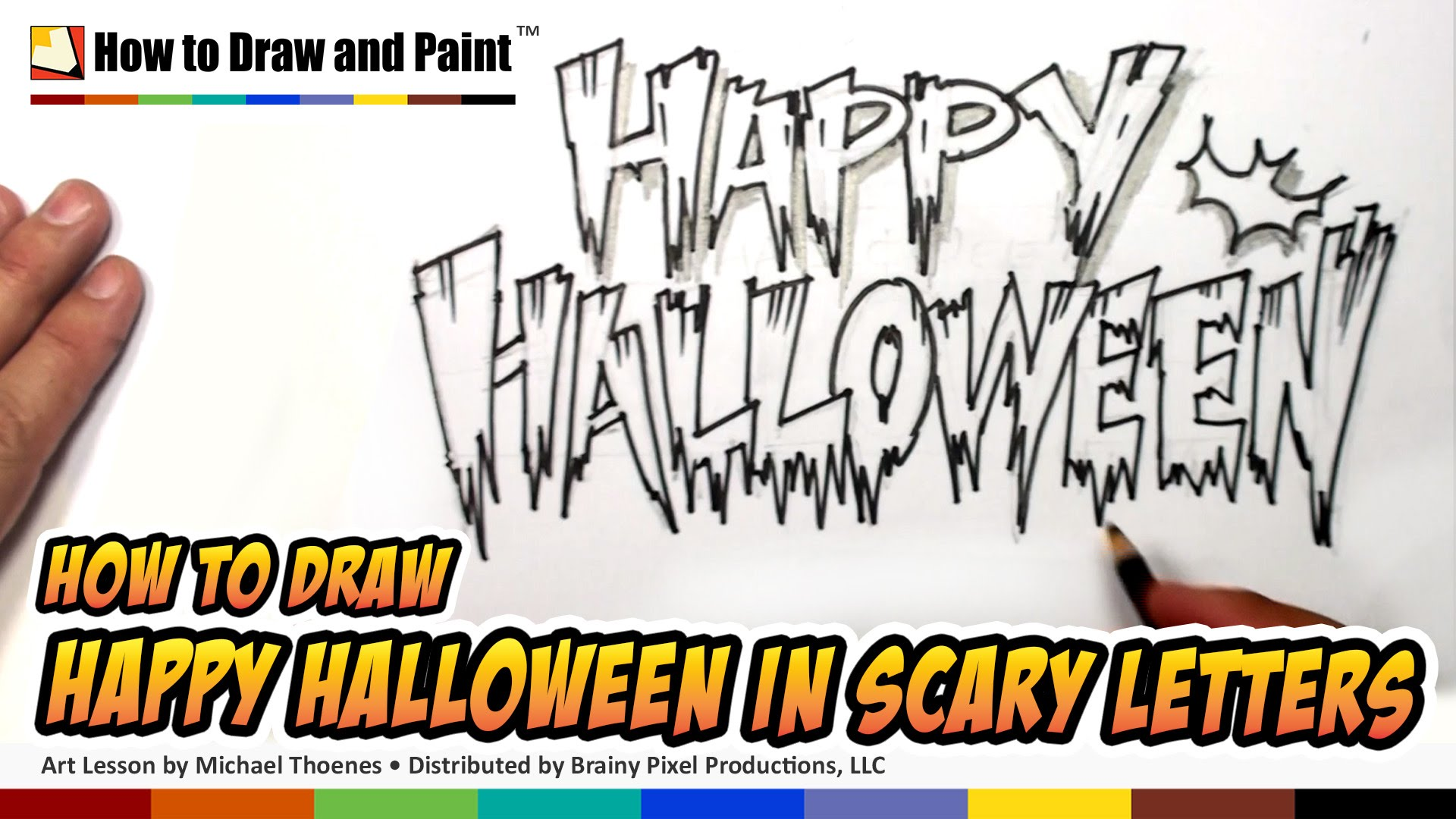 Drawn pixel art halloween Scary How  Happy Letters
