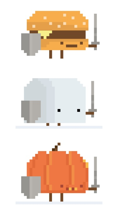 Drawn pixel art halloween #4