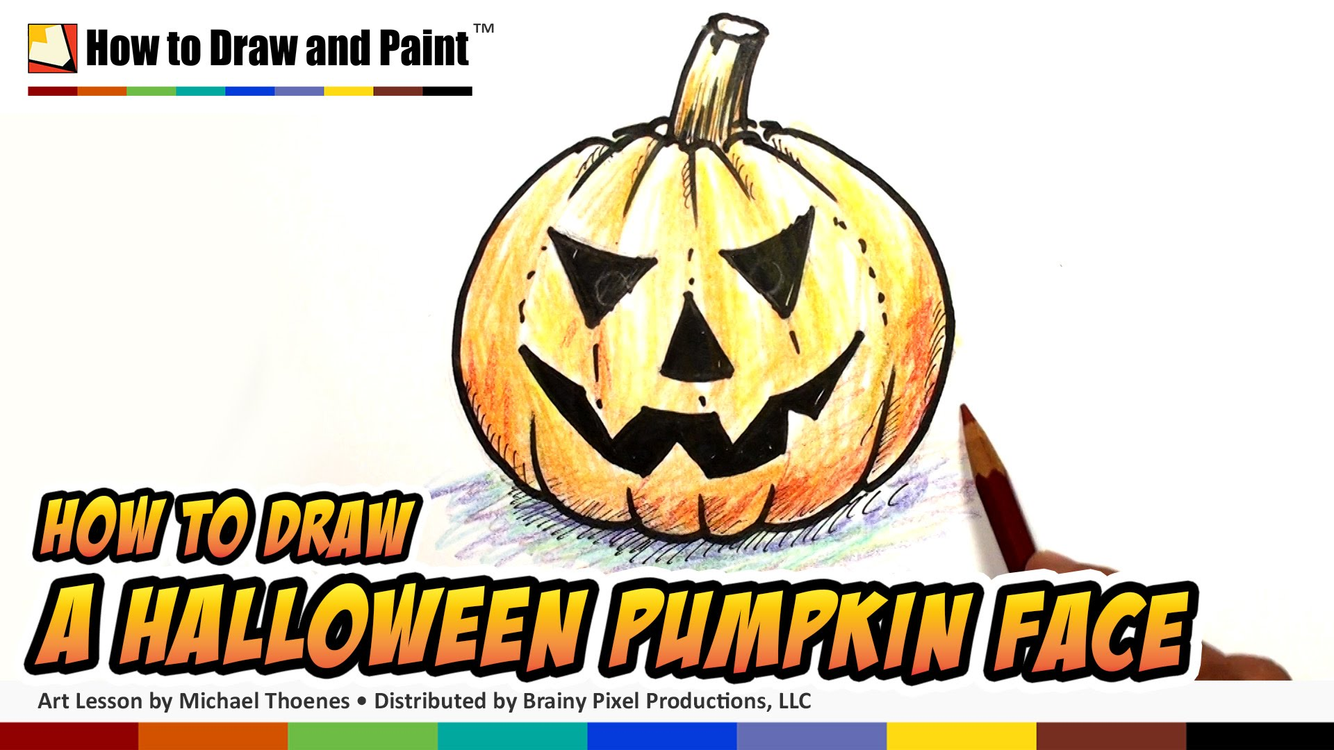 Drawn pumpkin halloween decoration To Face to for Kids