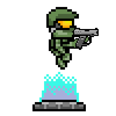 Drawn pixel art halo 4 #2