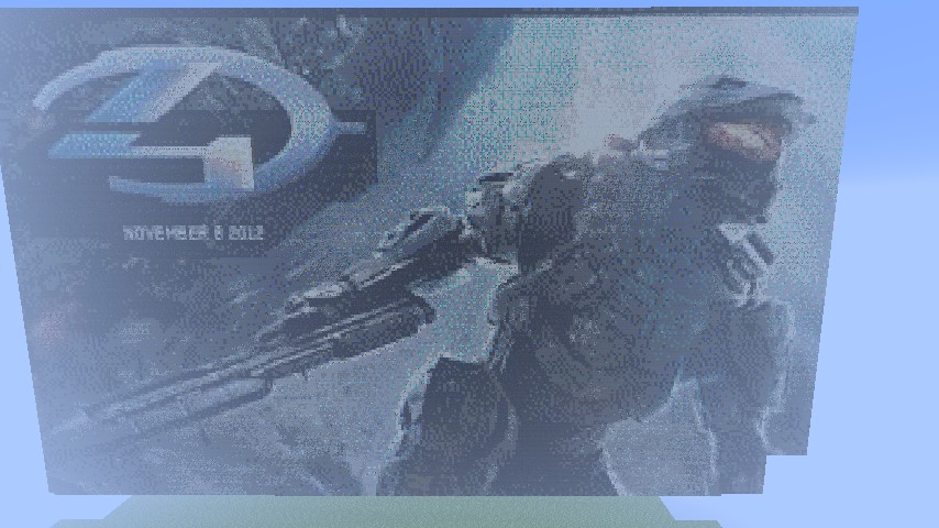 Drawn pixel art halo 4 #12