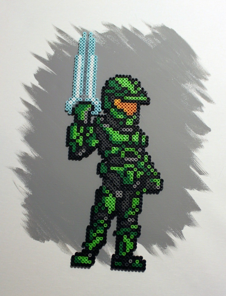 Drawn pixel art halo 4 #14