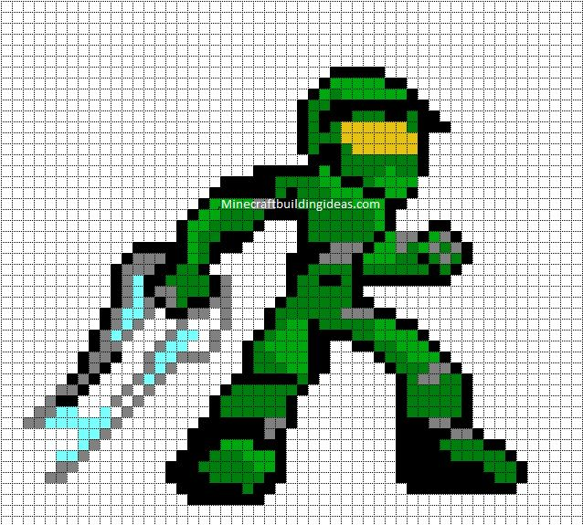 Drawn pixel art halo 4 #3