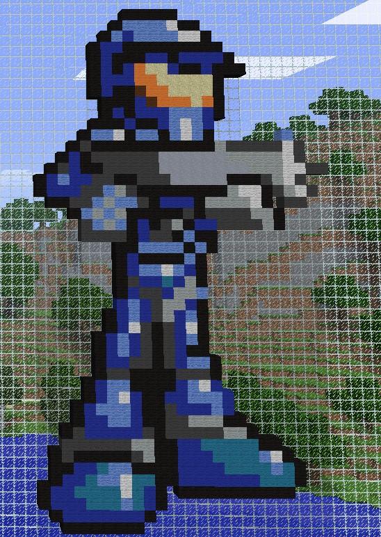 Drawn pixel art halo 5 (Made Halo  https://static com/f