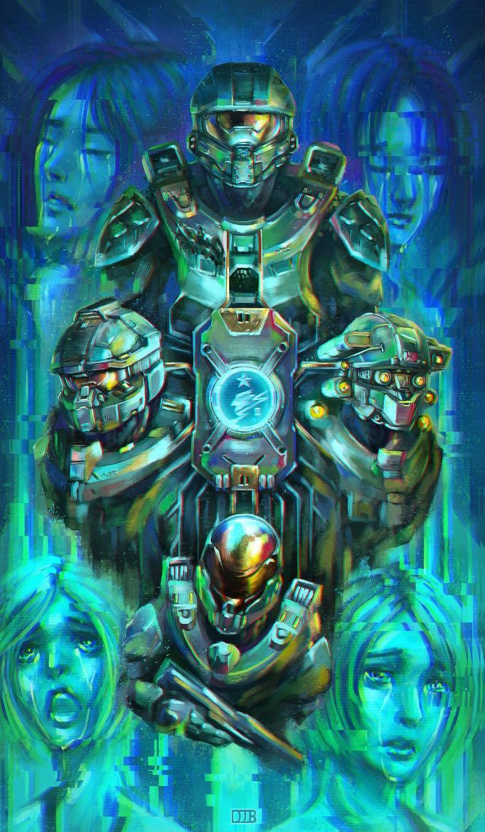 Drawn pixel art halo 5  5: Fan Guardians on