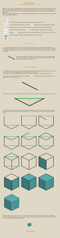 Drawn pixel art hard Tutorials art on How start